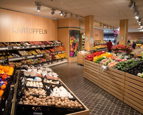Obst und Gemüse Abteilung